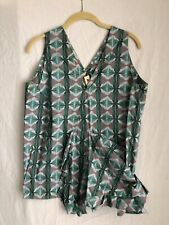 MARNI Women's Green Geometric Print V Neck Top - Great Condition! - Size 4 US