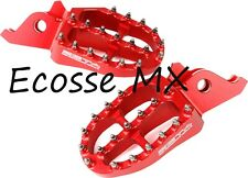 Honda CRF450R CRF450X 2002-2019 TRICK RED ZETA Wide Foot Pegs CRF250R CRF250X
