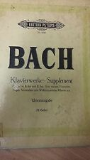 Bach: Piano Works Supplement: Music Score (J6)
