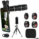 Phone Camera Lens Kit For IPhone & Android 20x Telephoto Zoom Wide Angle & Macro