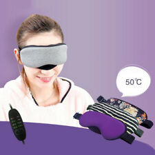 USB Hot Stream Eyes Relax Heating Sleep Mask Blindfold Eye Pillow w Temperature
