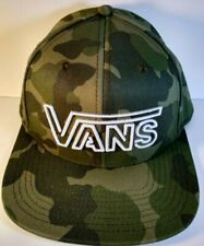 Vans Camo Snapback Hat Cap One Size Raised Embroidered Logo Flat Bill NWT
