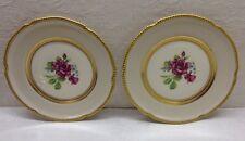 "CASTLETON CHINA - C54 - 2 Bread & Butter Plates - USA - Rose Floral, 6.5"" Diam"