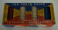 "Vintage Dexter Embossed Poker Chips 1 1/2"" Box of 100"