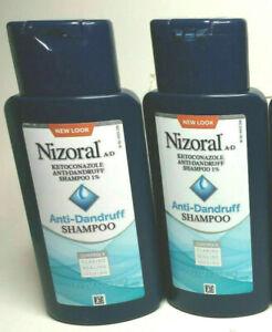2 PACK Nizoral A-D Anti-Dandruff Shampoo 7 floz/200ml EXP 8/2022