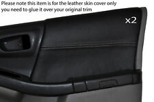 Gris stitch 2x Porte Carte Garniture Peau couvre fits Subaru FORESTER 1997-2002