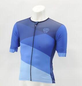 Verge Men's 3XL Speed Aero Short Sleeve Cycling Jersey Blue CLOSEOUT