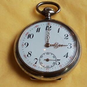 Taschenuhr Silber 800 funktionsfähig um  1910 Fa. (SJF) Handaufzug