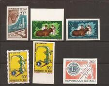 MALI- 6 stamps including 5 unlisted imperfs (MNH)
