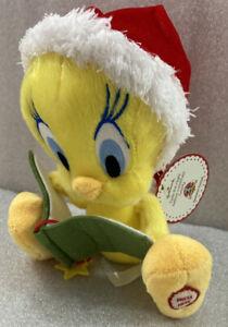 "Hallmark Tweety Bird ""Twas the Night Before Christmas"" talking plush 7""H"