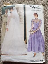 """Vogue Pattern 1248 Bridal Orginal Size 10 Bust 32 1/2"""" Waist 25"""" Hips 34 1/2"""""""