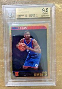 2014-15 NBA Hoops Gold Joel Embiid 76ers RC Rookie SP BGS 9.5 POP 3 (PSA 10?)