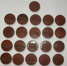 More details for 19th century proof set of new birmingham tokens 21 all different halfpenny