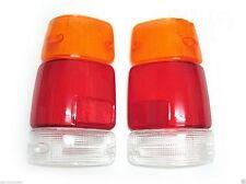 Fits Isuzu Rodeo Honda Passport Amigo Tail Light Clear Lens Lenses 88-96 Pair