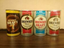Lot of 4 Vintage Beer Cans Drewrys 12 oz