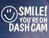 Car Sticker SMILE! YOU'RE ON DASH CAM Van Window Bumper Novelty Camera Security