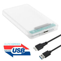 2.5 inch HDD SSD Case Transparent SATA III to USB 3.0 Hard Disk Enclosure