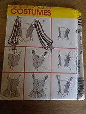 """PATRON  """"McCALL'S COSTUMES CORSET BUSTIER RENAISSANCE  TAILLE 32 AU 40 N°4107"""