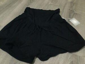NWT A-Glow Size 2XL Black Tie Maternity Shorts