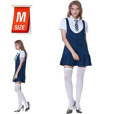 M Adult SCHOOL GIRL OUTFIT Hen Do Cosplay Party Costume Dress Navy Blue Colour