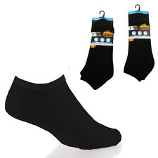 3 Pairs mens Prohike Trainer Socks, black Size 6-11
