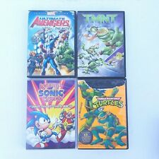 4 Action DVDs Movies For Kids Boys Children Family Wholesome TMNT Avengers Sonic