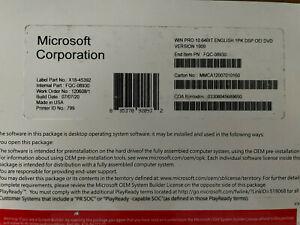 MlCROSOFT WINDOWS 10 PRODUCT KEY + DVD GENUINE SEALED COA 64 BIT HOME