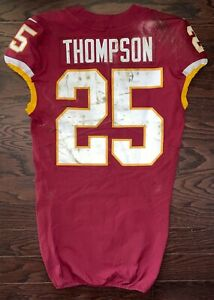 CHRIS THOMPSON 2017 Game Worn Used PHOTO MATCHED WFT Redskins Jersey PSA NFL LOA