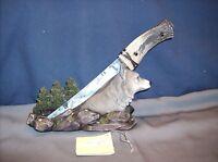 Wolf Figure With Blade  -Wolf Spirit Blade - HD44195   ABC  50% Off $9.47