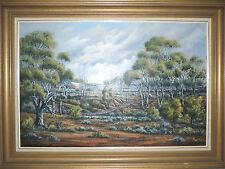 Eric minchin Original Large Oil Painting 60 x 90cm