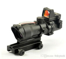 ACOG Style 4X32 Real Red Fiber Source Illuminated Scope w/ RMR Micro Red Dot