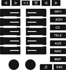 Set of Stickers to repair the buttons on your VW Touareg with GPS Screen