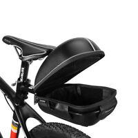 RockBros Waterproof Bike Seat Saddle Rear Rack Pack Bag Luggage Carrier Black