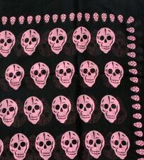 "SKULL SCARF 100% Cotton - 100cm x 100cm (40"" Square  7 Variations"