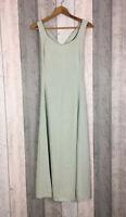 Joseph Ribkoff Light Green Cross Straps Maxi Dress Size UK 10