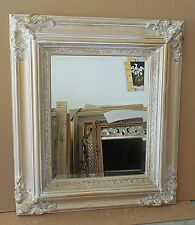 "Large Solid Wood ""28x32"" Rectangle Beveled Framed Wall Mirror"