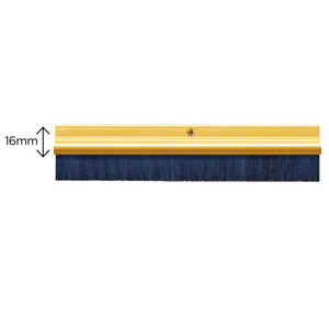 Exitex Door Draught Excluder Brush Strip Bar 2134mm Gold Fits Any Doors