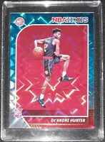 2019-20 DE'ANDRE HUNTER RC Rookie Card NBA Hoops Teal Explosion #202