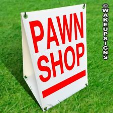 SANDWICH BOARD A-FRAME SIGN KIT PAWN SHOP THRIFT STORE 20.5 INCH BY 13.75 INCH