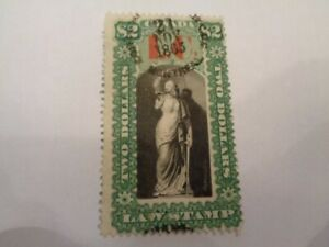 1864 Lower Canada Law Stamp $2