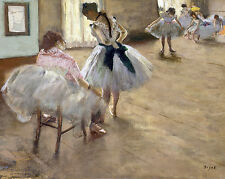 The Ballet Lesson Edgar Degas Painting Dance Real Canvas Giclee Art Print