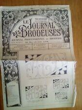 LE JOURNAL DES BRODEUSES JOURNAL PROFESSIONNEL N°762 1958