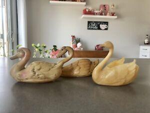 Vintage Celluloid Plastic Swans & Duck