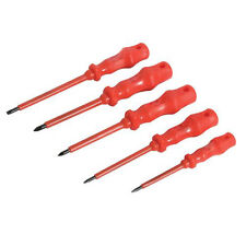 5 Piece Insulated Screwdriver Set -Slotted 3.5mm, 4mm, 5mm- Phillips Nos. 1 & 2