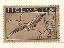 Switzerland: 1929; Scott C15, 2 Fr, used, bird. SZ08