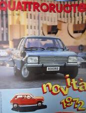 Quattroruote 194 1972 Manifesto Ronnie Peterson. Simca 1100 Sp. Fiat 130 [Q84]