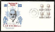 Canada SC # 592 Louis ST.Laurent FDC.BLK4  Kingswood Cachet
