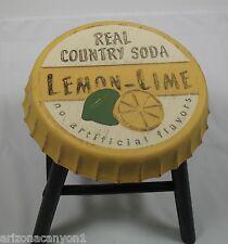 Tender Treasures Real Lime Pop (Soda) Bottle Cap Design Stool/Stand 102625 New