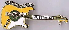 Hard Rock Cafe MELBOURNE 2000 Y2K YELLOW Stratocaster Guitar PIN - HRC #5462