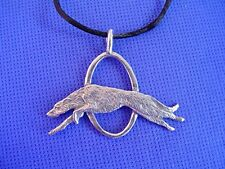 Deerhound wolfhound Leaping necklace #16Ea dog jewelry by Cindy A. Conter